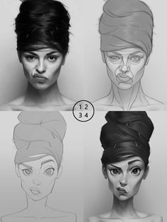 Uplifting Learn To Draw Faces Ideas. Incredible Learn To Draw Faces Ideas. Illustration Tutorial, Art Et Illustration, Character Illustration, Cartoon Illustrations, Digital Art Tutorial, Digital Painting Tutorials, Art Tutorials, Digital Paintings, Character Design Cartoon