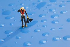 The Diver Among Water Drops Little People Big World by Paul Ge