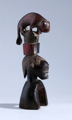 Africa | Heddle pulley from the Guro people of the Ivory Coast | Wood | ca. 1900
