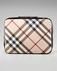 """MacBook Air 13"""" Check Laptop Sleeve by Burberry at Neiman Marcus $168"""