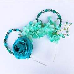 """Aladdin """"Jasmine"""" Magical Floral Mickey (inspired) Ears (71 CAD) ❤ liked on Polyvore featuring accessories"""