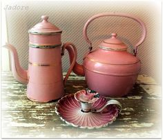 Roze emaille, Pink enamelware