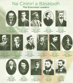 Leaders of the 1916 Easter Rising Best Of Ireland, Images Of Ireland, Ireland 1916, Ireland Map, Ireland Facts, Irish Independence, Irish Republican Army, Easter Rising, Scotland History