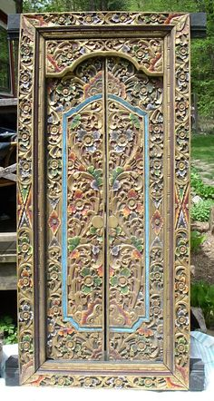Blinese Temple Doors - Just exquisite. & Large Balinese Doors Hand Carved Blue Green in NSW   eBay   asian ... Pezcame.Com