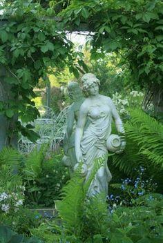 garden statue ~ Aiken House & Gardens