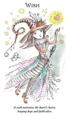 "☆ Witchling: Wish ""A wish motivates the heart's desire, keeping hope and faith alive."" -::- Artist Paulina Cassidy ☆"