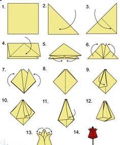 Origami Tulpen falten - Anleitung-dekoking-com-1