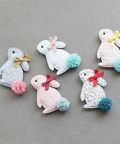 Bunny Crafts, Easter Crafts, Ribbon Crafts, Fabric Crafts, Spring Crafts, Holiday Crafts, Diy For Kids, Crafts For Kids, Felt Crafts Patterns