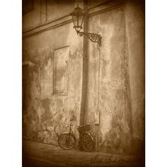 Old bicycle and streetlamp vintage scene 7x5 art by shashamane, $11.99
