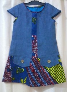 Ankara Styles For Kids, African Dresses For Kids, Latest African Fashion Dresses, African Print Dresses, African Print Fashion, Little Girl Dresses, African Attire, African Wear, Baby Girl Fashion