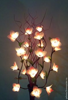 """Освещение ручной работы. Ярмарка Мастеров - ручная работа Цветы-светильник """"Весенняя орхидея"""". Handmade."""