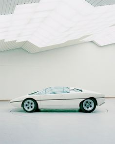 """1974 Lamborghini Bravo prototype, designed by Gruppo Bertone.""    From this angle, it's reminiscent of the early Lotus Esprit."