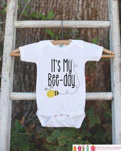 Kids Birthday Shirt - It's My Bee-Day - #clothing #children #tshirt @EtsyMktgTool #boybirthdayshirt #birthdayshirt #kidsbirthdayshirt