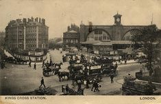 A picture postcard of King's Cross in 1906. Courtesy of the London Transport Museum collection.