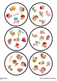 Une version du célèbre jeu de DOBBLE sur le thème du corps. English Games, English Fun, Montessori Activities, Book Activities, Preschool Body Theme, French Lessons, Worksheets For Kids, Teaching English, Board Games