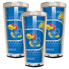 Kansas Jayhawks 3-Piece Shot Glass Set, Multicolor