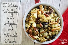 Holiday Stuffing with Apples & Toasted Pecans with Kraft Foods #CookingUpGood #ad