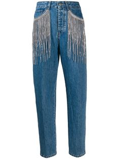 May 2020 - Circus Hotel fringed straight fit jeans - Blue All Jeans, Jeans Fit, Diy Fashion, Ideias Fashion, Fashion Design, Custom Clothes, Diy Clothes, Estilo Country, Embellished Jeans