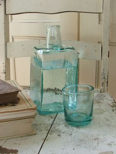 If you have to take pills in the middle of the night, find your favorite style of nightstand carafe for water.