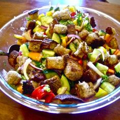 Panzanella Italian vegetable & bread salad recipe, Momsicle Blog