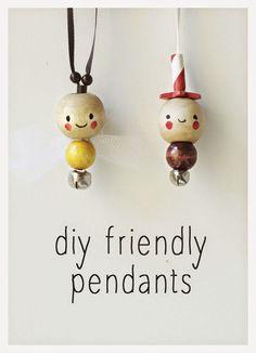 DIY wooden pendants for kids