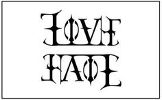 Ambigram Love/Hate