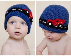 Car Beanie Hat - Crocheted