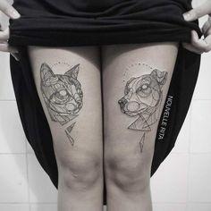 Les tatouages géométriques de l'artiste portugaise Nouvelle Rita, basée à Lisbonne, qui réalise des créations complexes et délicates en mêlant de nombre