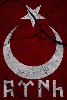 göktürkçe türk logosu filografi desenleri proto turks alphabets