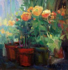 Royal Mix by Mary Maxam Oil ~ 8 x 8