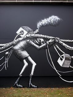 Graffiti by Phlegm in Switzerland