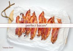 The most perfect bacon? Also the easiest. Cooking Bacon, Cooking Tips, Oven Baked Bacon, Bacon Recipes, Baking Sheet, Kitchen Hacks, Cool Kitchens, Favors