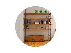 Policový regál  s roksorovou konštrukciou ohýbanou alebo zváranou. Police drevené alebo lacnejšie OSB dsky. Rozmery ľbovolné. Výstavný priestor pre knihy alebo kvetinu.  VOLITEĽNÁ FARBA ROKSORU Shelving, Police, Bookcase, Furniture, Design, Home Decor, Shelf, Shelves, Decoration Home