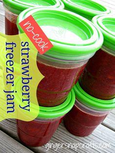 no-cook strawberry freezer jam {recipe}