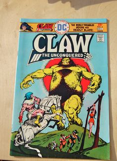 DC #bronze age comic #book. Claw The Unconquered. Vol 1 # #4November 1975,  View more on the LINK: http://www.zeppy.io/product/gb/3/248697872/