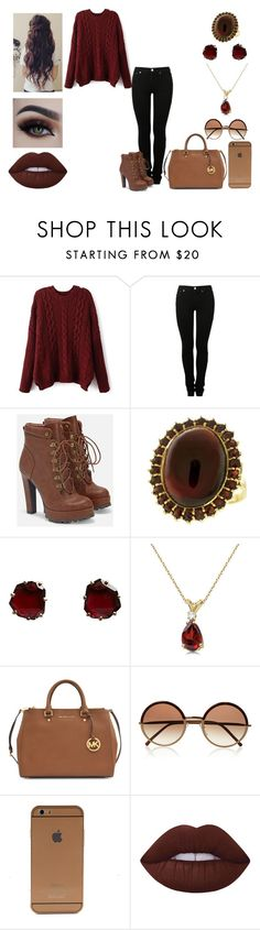 """Charlie"" by dearxadriana on Polyvore featuring MM6 Maison Margiela, JustFab, Annoushka, Allurez, Michael Kors, Cutler and Gross and Lime Crime"