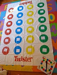 Sight word twister....more ways to make reading fun!