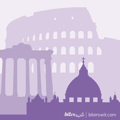 ROME MINIMALIST Printable Art. Poster in violet color of Rome. Minimal deco…