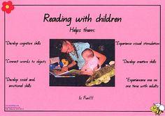 Reading with Children - Developmental Poster