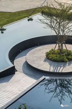 What You Can Do Yourself To Make Landscaping A Cinch - House Garden Landscape Landscape And Urbanism, Landscape Architecture Design, Urban Landscape, Contemporary Landscape, Pond Design, Garden Design, Modern Landscaping, Garden Landscaping, Landscaping Ideas