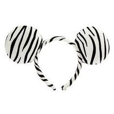 Minnie Mouse Faux Fur Ear Headband - Zebra; Orelhinha de pelúcia com estampa de zebra. Perfeita pra ser usada no Animal Kingdom!