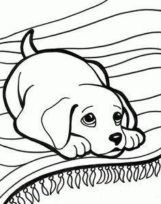Cute puppy pictures to color 085   dog pic   Pinterest   Puppy ...