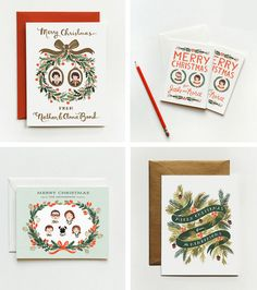 Rifle Paper Co Personalised Christmas Cards Custom Christmas Cards Xmas Cards Holiday Cards