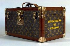The Duchess of Windsors Louis Vuitton jewelry case.