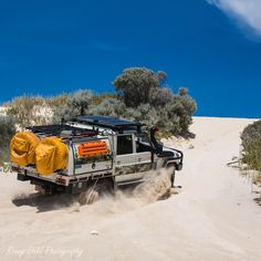 79 series Toyota Landcruiser, in the sand dunes, Western Australia. Landcruiser Ute, Landcruiser 79 Series, Pick Up, Toyota Cruiser, Off Road Trailer, Patio Layout, Outdoor Couch, Alfa Romeo Cars, Toyota Hilux
