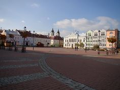 Market Square. Sanok, Poland