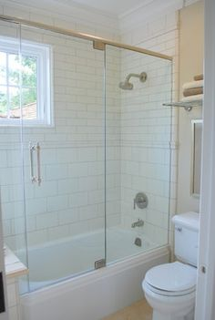 Small Bathroom Ideas Design Ideas, Pictures, Remodel, and Decor - page like this concept just bigger darker tiles and we do have the same window Girl Bathrooms, Condo Bathroom, Downstairs Bathroom, Bathroom Renos, Master Bathroom, Bathroom Ideas, Retro Bathrooms, Bathroom Updates, Washroom