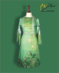 Aline Shirt with Digital Print Full sleeves (Bell Shape) Fabric: Lawn Full Sleeves, Lawn, Digital Prints, Victorian, Shape, Green, Fabric, Summer, Shirts