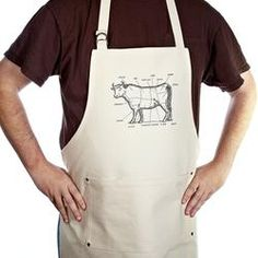 The Bullheaded Mans Kitchen Apron Bbq Accessories, Kitchen Accessories, Kitchen Aprons, Kitchen Gifts, Bbq Apron, Apron Diy, Unique Dining Tables, Grilling Gifts, Apron Pockets