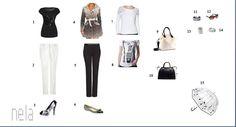 Black & white Nestarnúca čierno-biela kombinácia 1 Orsay, 2 Next, 3 Iron Fist, 4 Desigual, 5 Mango, 7 Only, 8 Promod, 9 HM, 10 Zara, 11-14 Promod, 15 Reserved
